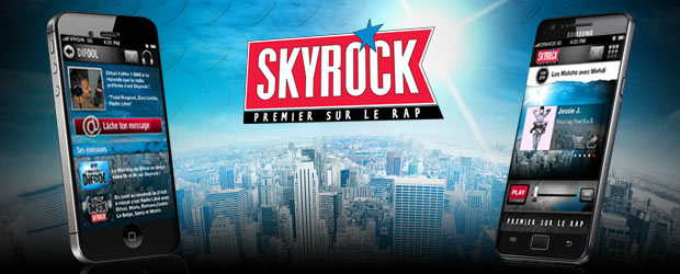 L&#039;appli Skyrock sur Android